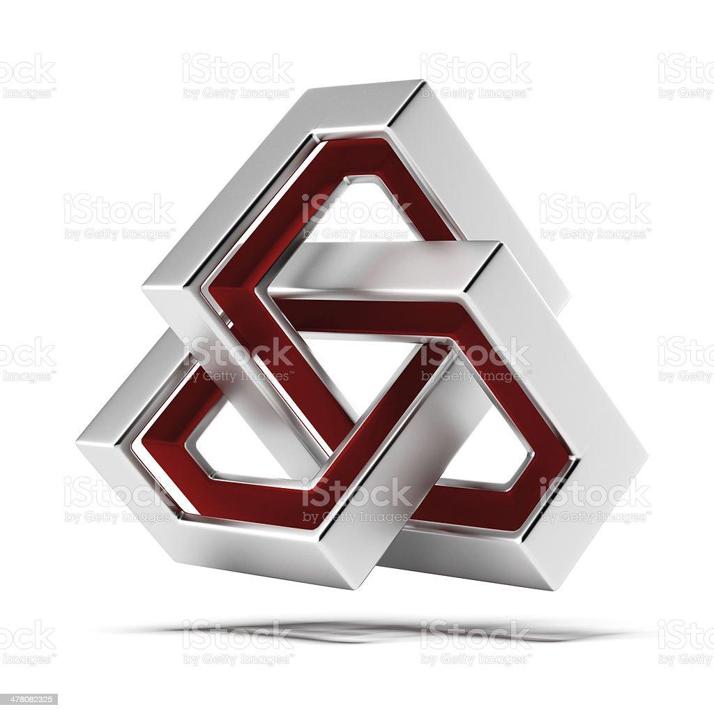 Futuristic infinity sign royalty-free stock photo