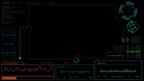 futuristiska infographic element. hud bakgrunden animation. digitalt gränssnitt för head up display. hud-elementet. teknik bakgrund. hud.4k. - graphs animation bildbanksfoton och bilder