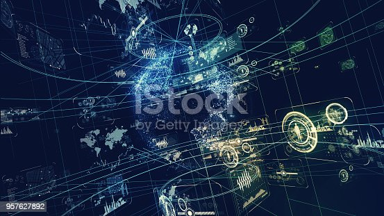 istock Futuristic interface concept. 957627892