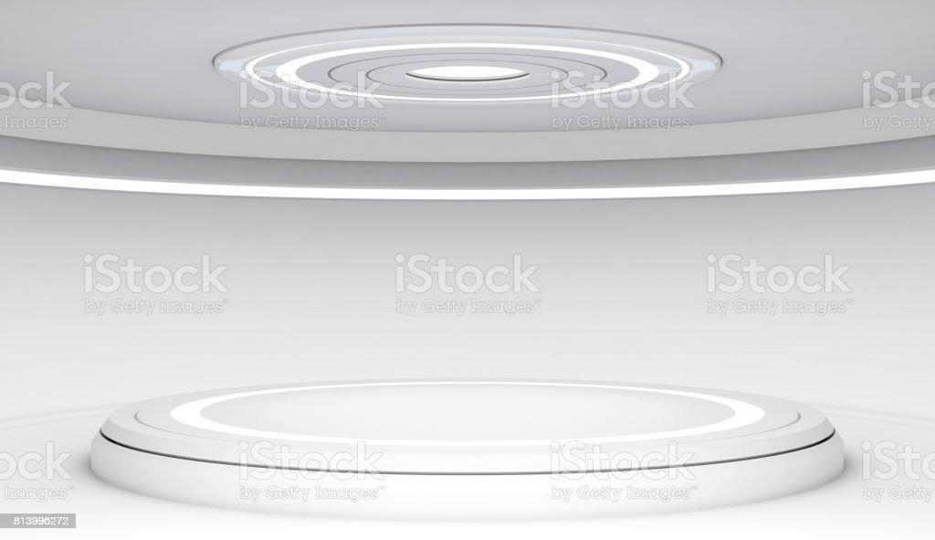 https://media.istockphoto.com/photos/futuristic-interior-with-empty-stage-picture-id813996272