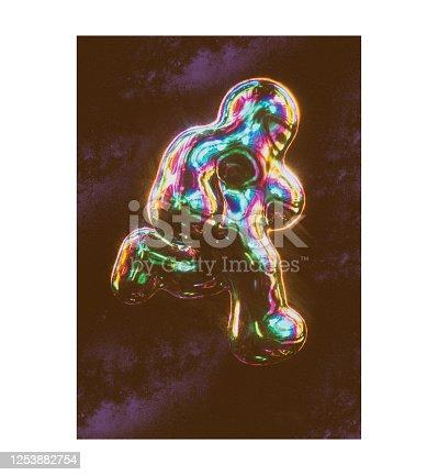 1007273724 istock photo Futuristic Iridescent SPACEMAN Background image 1253882754