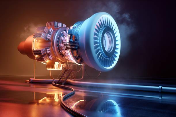Futuristisches Jet Engine Engineering Konzept – Foto