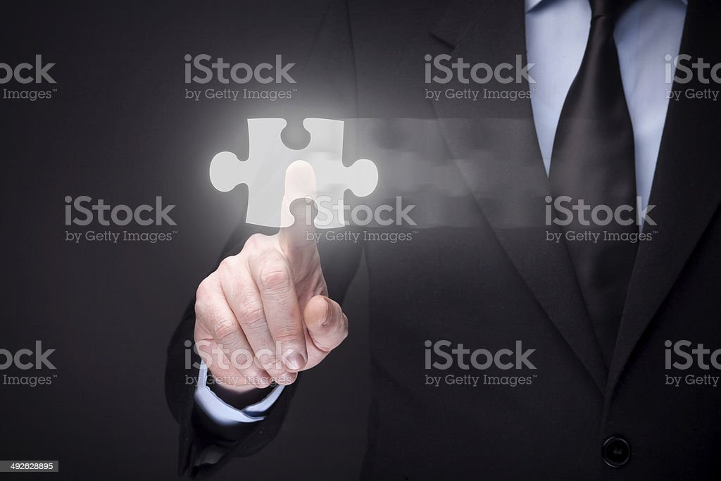 Futuristic Jigsaw Puzzle royalty-free stock photo
