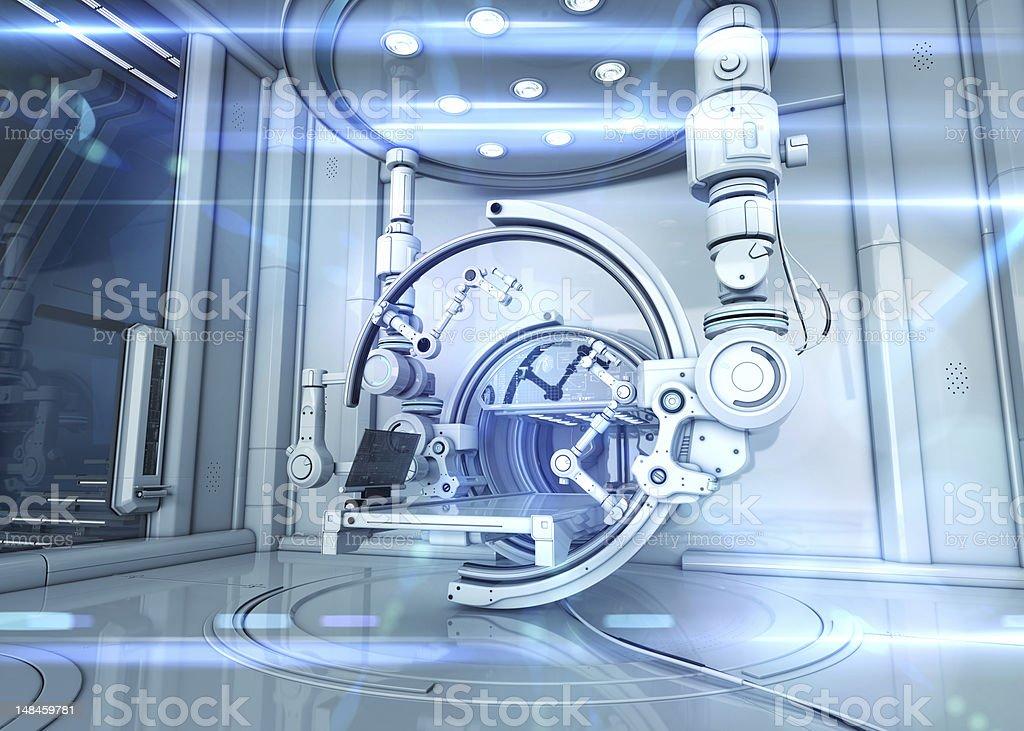 Futuristic Lab royalty-free stock photo