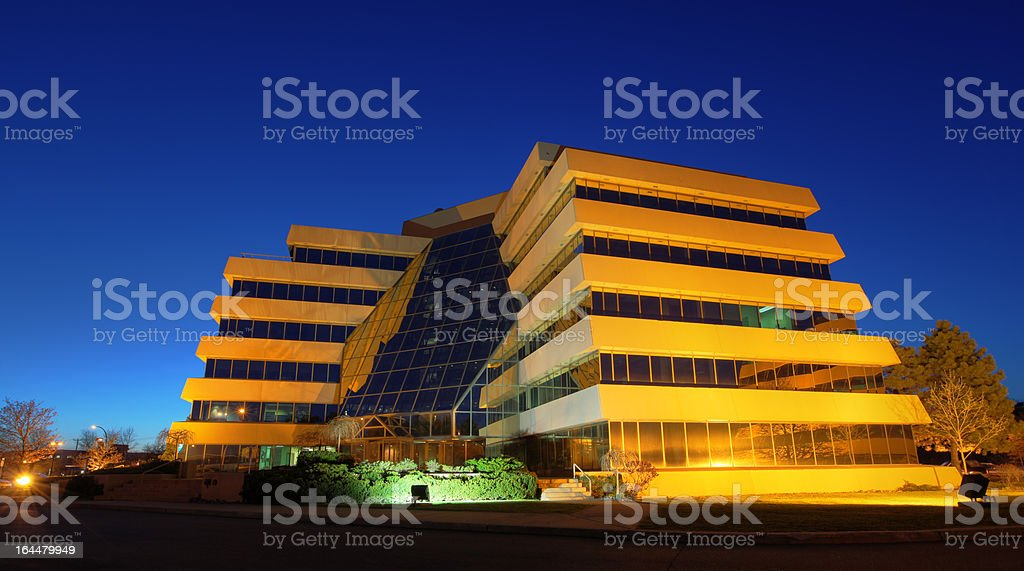 Futuristic looking Office Building royalty-free stock photo