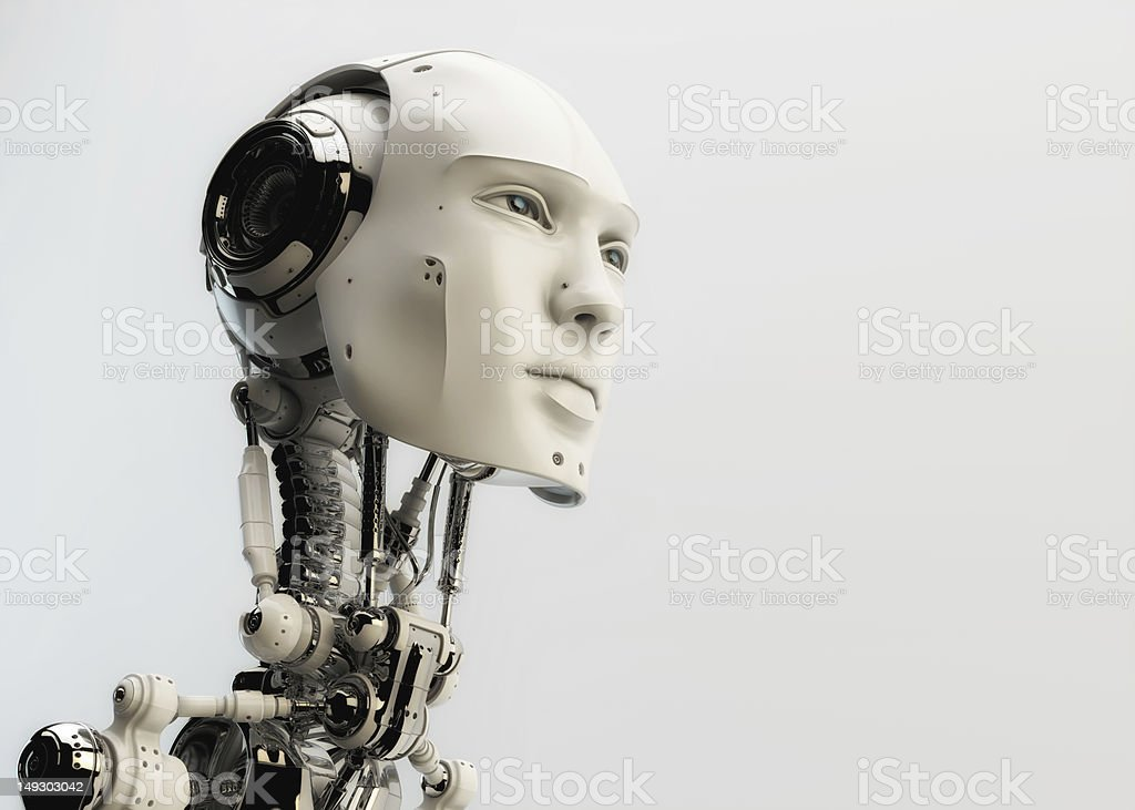 Futuristic man stock photo