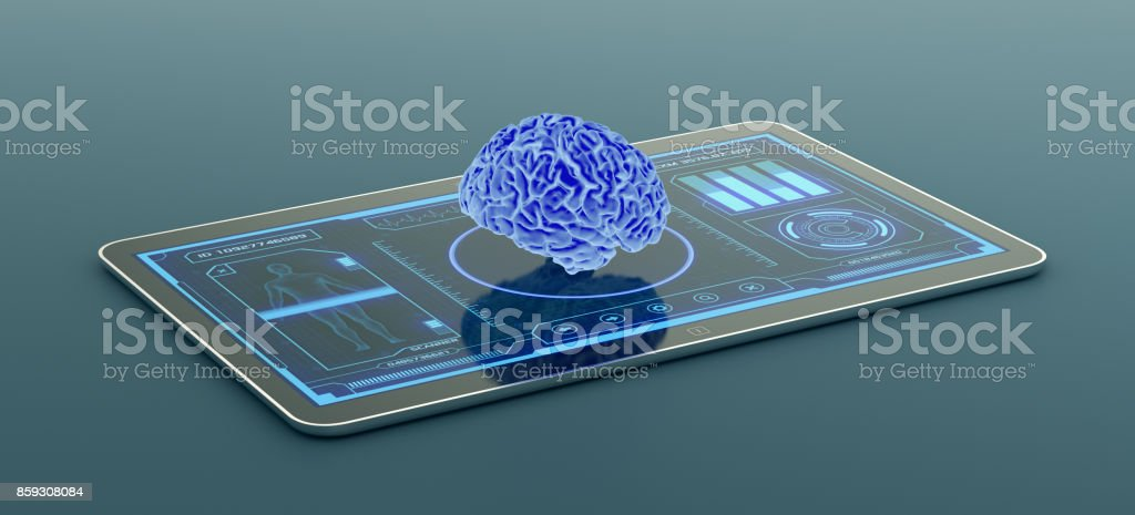 futuristic medical app stock photo