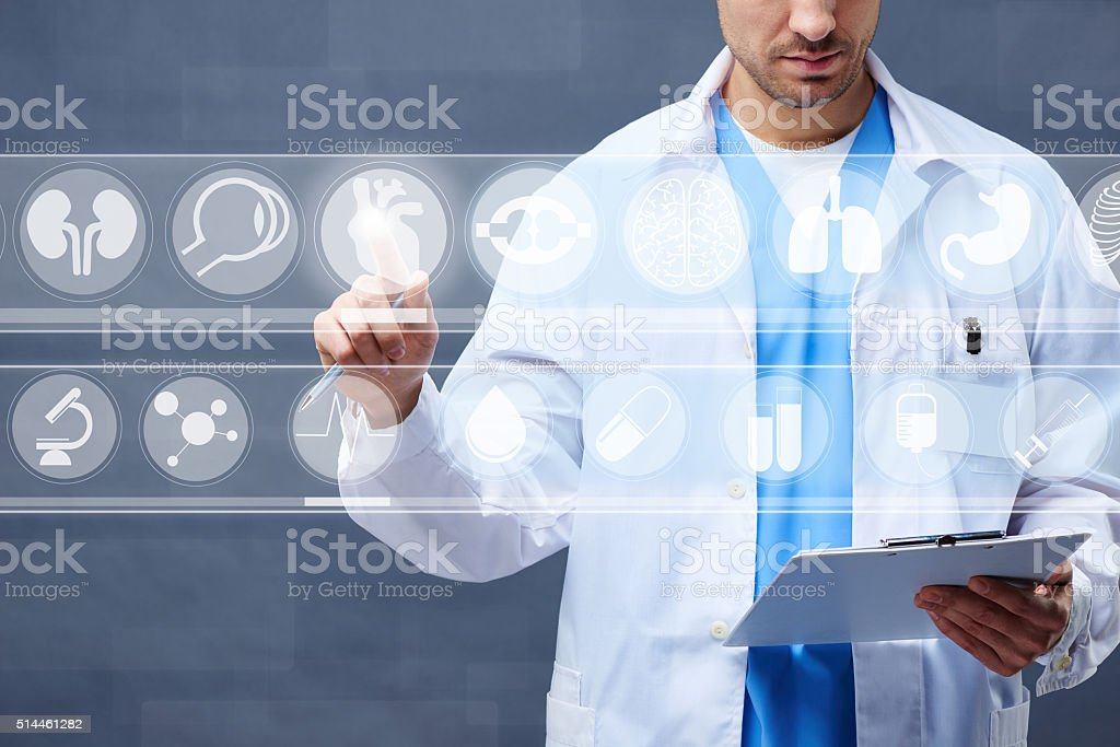 Futuristic medical innovation stock photo