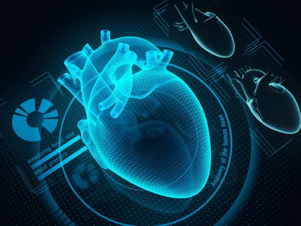 미래의 의학 및 의료 기술 개념 - 심장 전문의 뉴스 사진 이미지