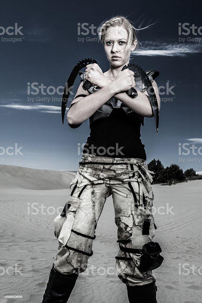 Futuristic Military Warrior stock photo