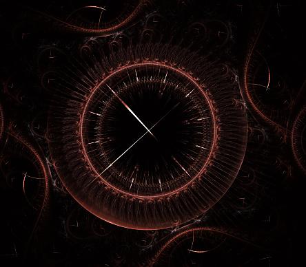 Futuristische Moderne Klok Horloge Abstracte Fractal Surrealistisch Ongewone Abstracte Textuur Patroon Fractal Achtergrond Moderne Stijlvolle Fractal Effect Horloge Kerstklok Multigekleurde Uurwerk Stockfoto en meer beelden van Abstract