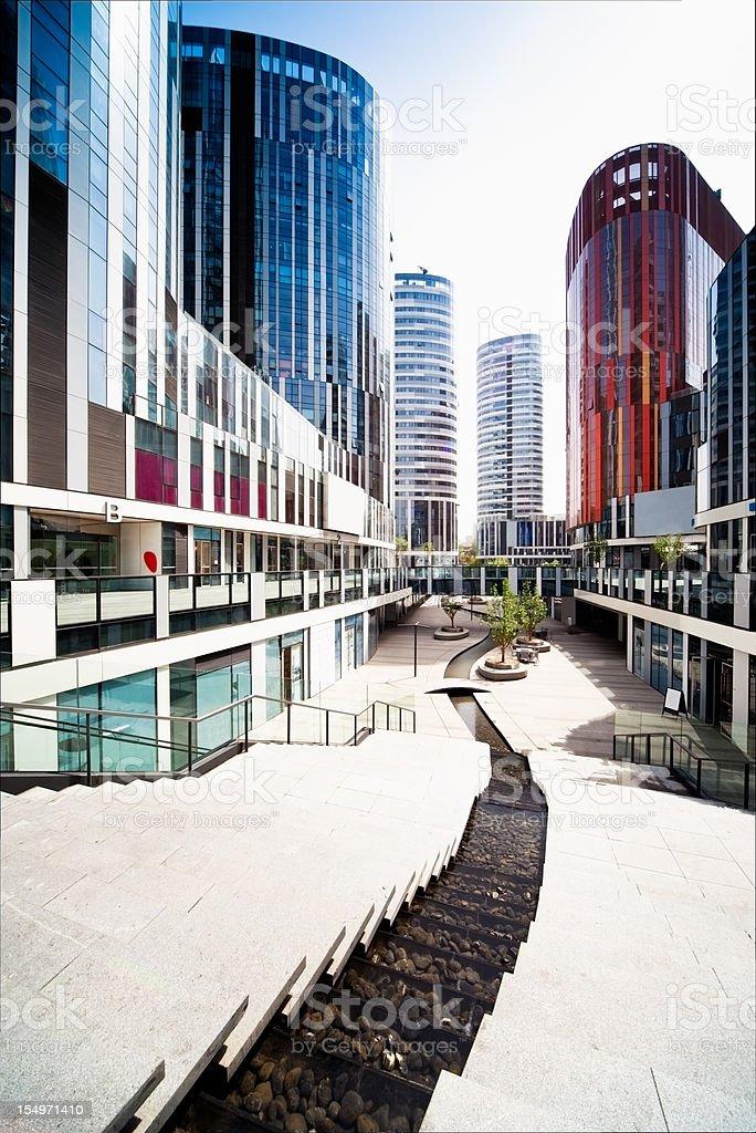 Futuristic modern empty city royalty-free stock photo