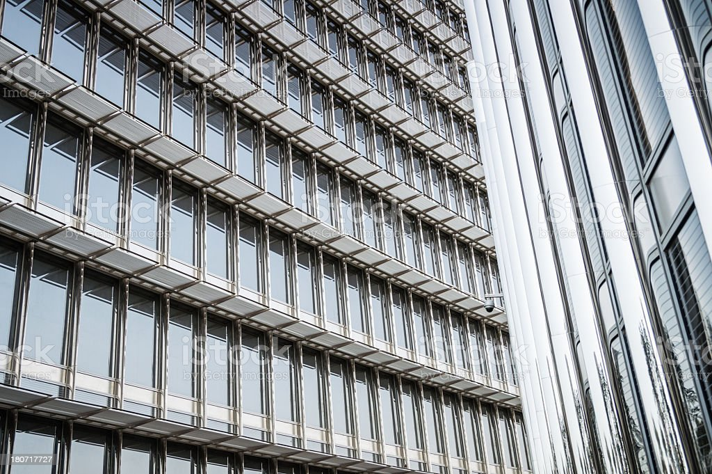 Futuristic office building reflection royalty-free stock photo