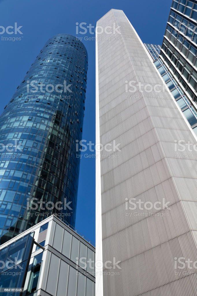 Futuristic Office Buildings, Frankfurt, Germany royalty-free stock photo