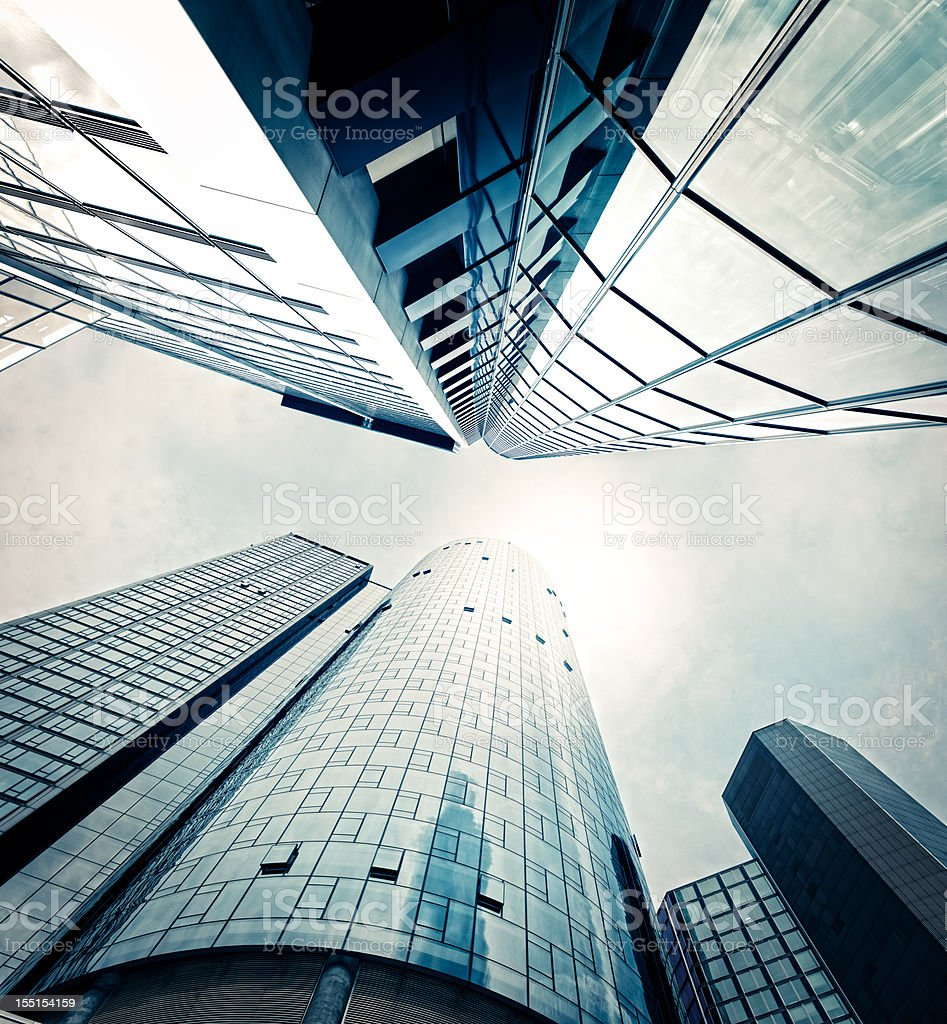 Futuristic office buildings royalty-free stock photo