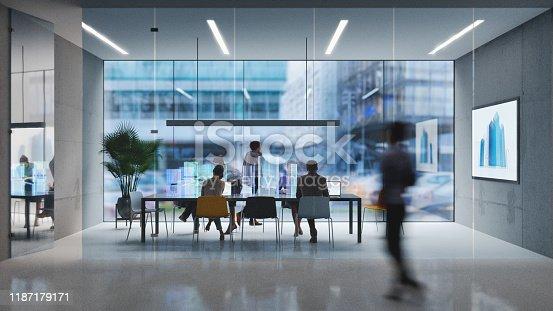 istock Futuristic office 1187179171