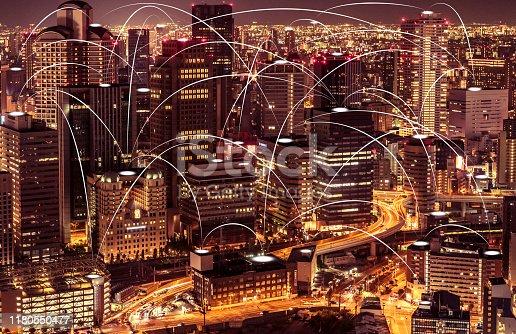 1013969318istockphoto Futuristic Osaka electromagnetic signals 1180550477