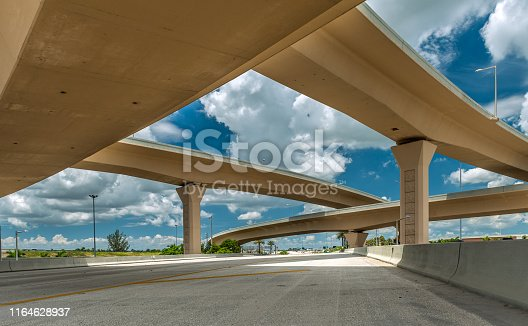 Complex overpass systems in Miami.