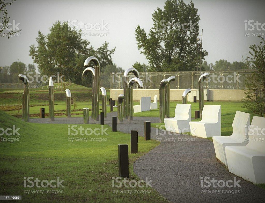 Futuristic park. stock photo