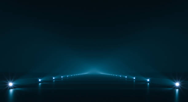 Futuristic pathway background Futuristic pathway background with light illumination copy space stock pictures, royalty-free photos & images