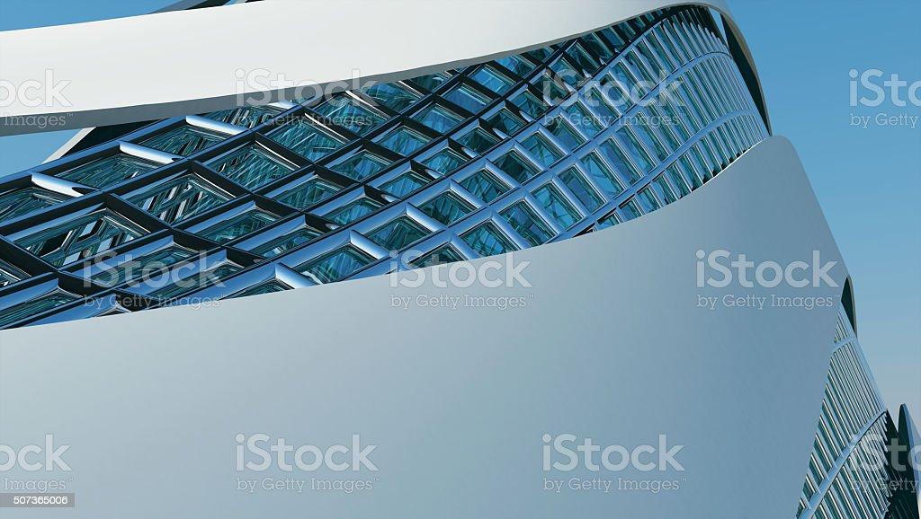 Futuristic pavilion stock photo