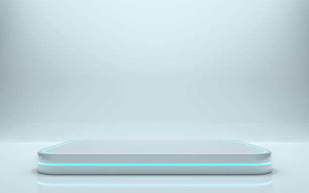 futuristic pedestal - stage performance space stock pictures, royalty-free photos & images