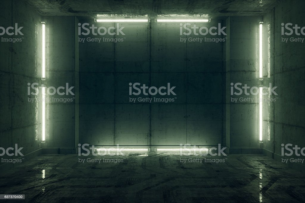 Futuristic prison cell stock photo