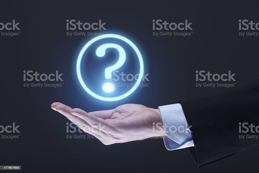 Futuristic Question Mark stock photo