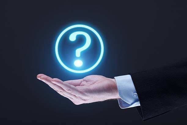 Futuristic Question Mark stock photo