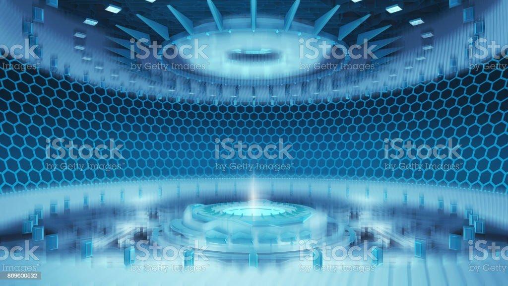 Futurista habitación - foto de stock