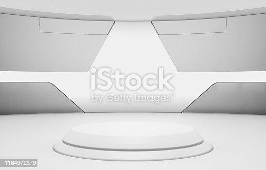 istock Futuristic Round Pedestal or Platform 1164972379