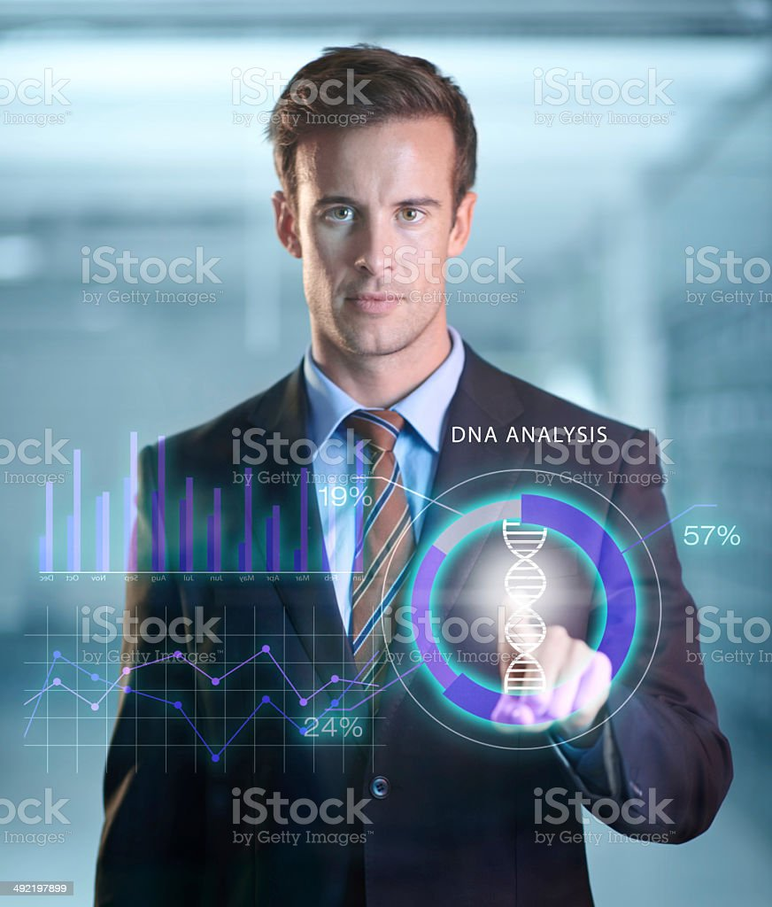 Futuristic security stock photo