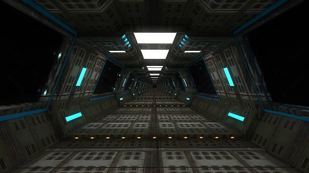 navire intérieur futuriste module - vaisseau spatial photos et images de collection