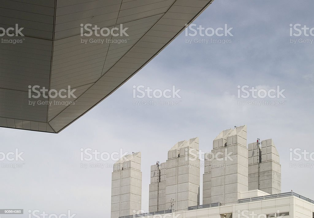 Futuristic Skyline royalty-free stock photo