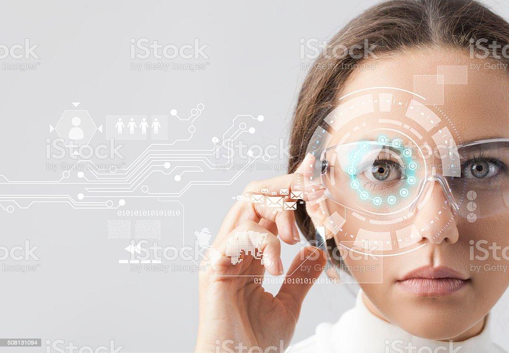 Futurista gafas inteligentes foto de stock libre de derechos