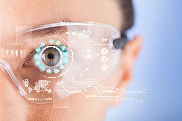 Cтоковое фото Футуристический Эффектные солнцезащитные очки