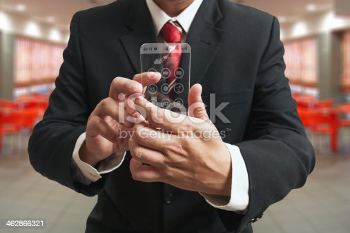 499253490istockphoto Futuristic smartphone in hands 462866321