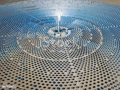 istock Futuristic Solar Thermal Power Station 867855600