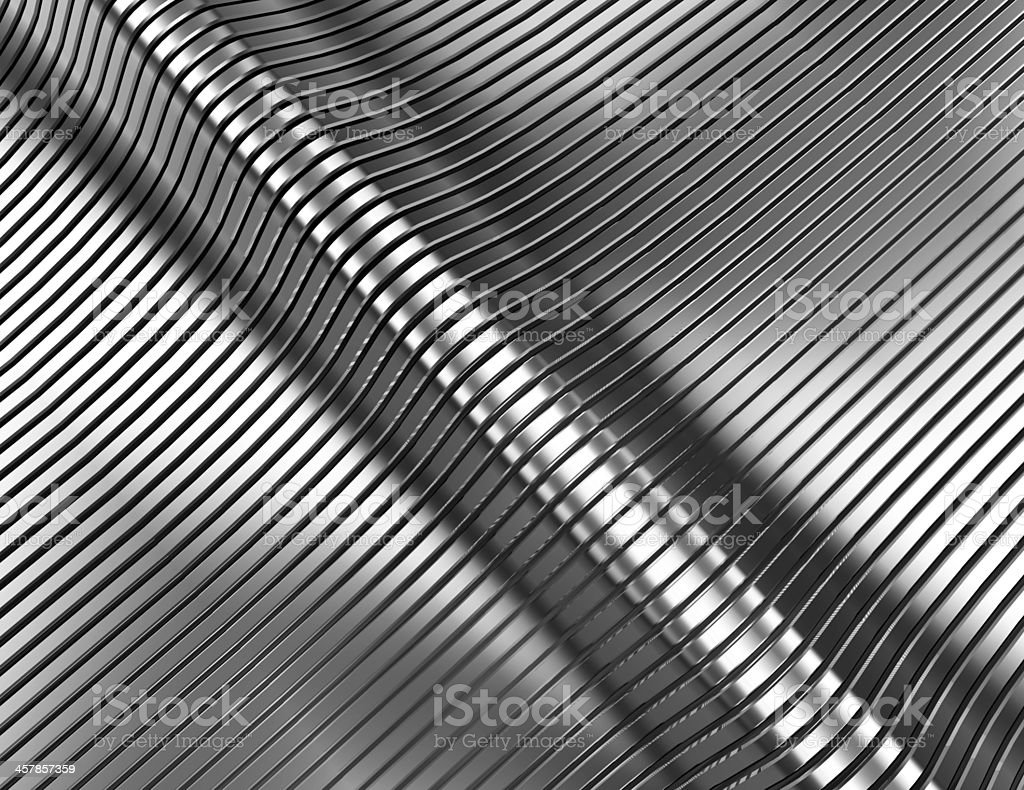 Futuristic Stainless Steel Background stock photo
