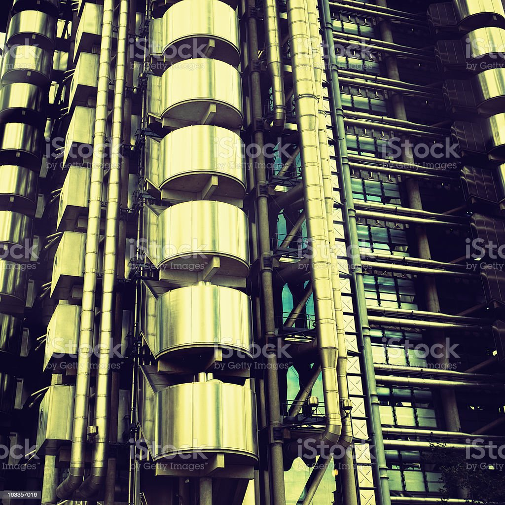 Futuristic steel building in London royalty-free stock photo
