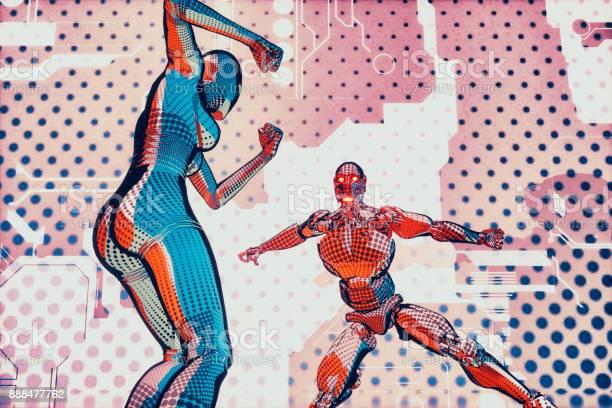 Futuristic superhero robot fight in cartoon style picture id888477762?b=1&k=6&m=888477762&s=612x612&h=j9tufpvif9yxx n2uqfis8lncf7k3clubp1fh arzyg=