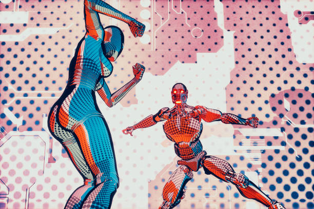 Futuristic superhero robot fight in cartoon style picture id888477762?b=1&k=6&m=888477762&s=612x612&w=0&h=yqekbi2h3 ajwbwx5aimunxwinuhkeqhfxtyf47y4k0=