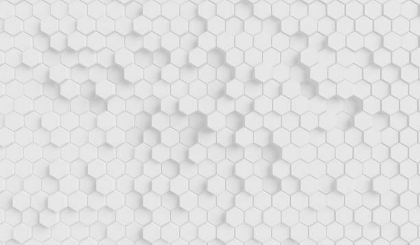 Futuristic surface honeycom hexagon pattern stock photo