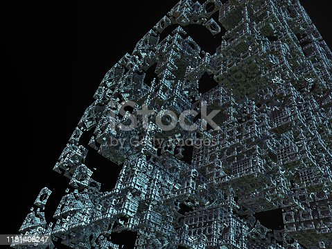 507211101 istock photo futuristic surreal construction 1181408247