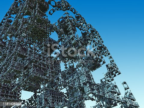507211101 istock photo futuristic surreal construction 1181408248