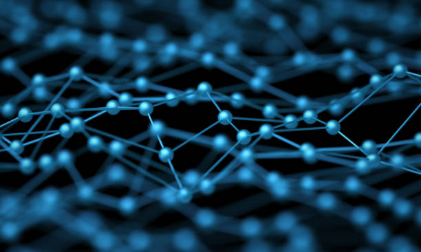 Futuristic technology and science background. Network connections or molecular structure surface Futuristic technology and science background. Network connections or molecular structure surface nanoparticle stock pictures, royalty-free photos & images