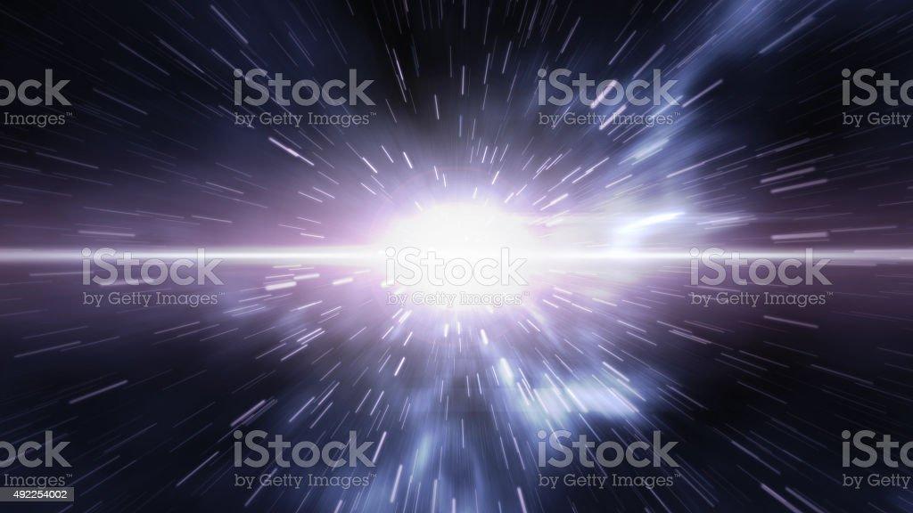 Futuristic timetravel or space warp stock photo