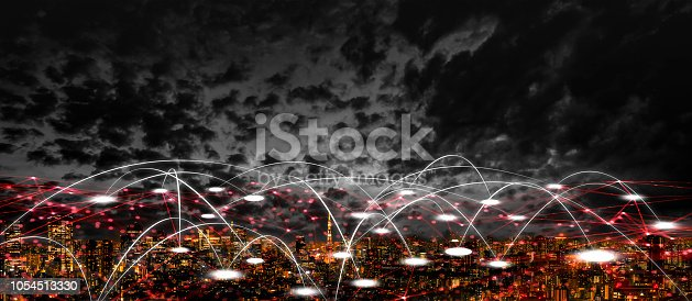 1013969318istockphoto Futuristic tokyo electromagnetic signals 1054513330