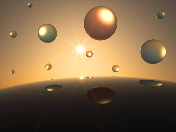 Futuristische transparente Bereich vor der Sonne. – Foto