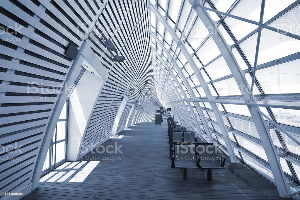 Futuristic Transportation Building interior of a modern railway station, Avignon, FranceClick here to view more related images: Abstract Stock Photo